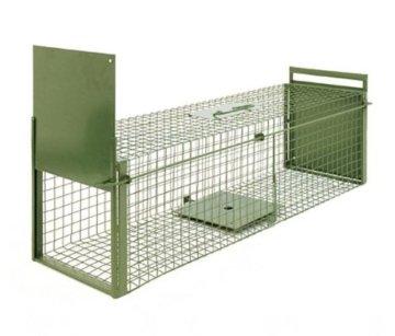 KrapTrap® Marderfalle Tierfalle Katzenfalle Lebendfalle 100 x 29 x 29 cm -
